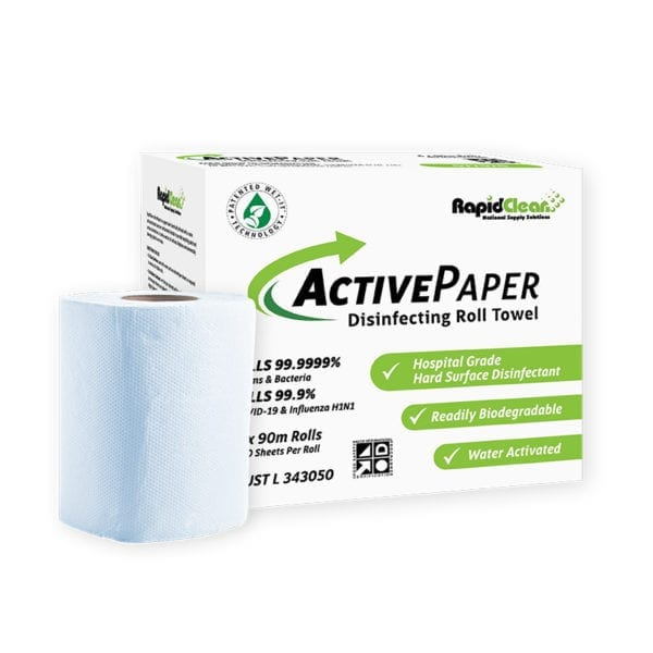 RapidClean ActivePaper Disinfecting Roll Towel