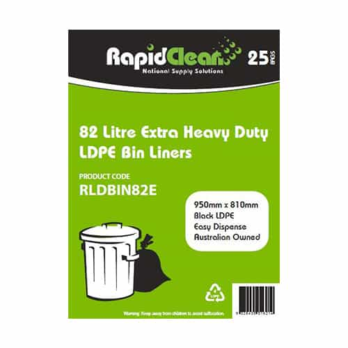Extra Heavy Duty Black LDPE Garbage Bags
