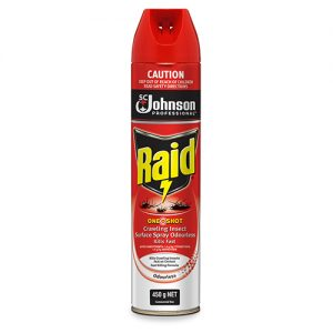 688182 Raid Oneshot Crawling Insect Surface Spray Can Odourless 450g 2 300x300