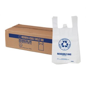 Medium Reusable Singlet Bags 37um