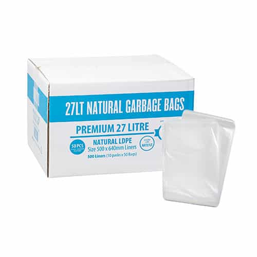 27L Premium Kitchen Tidy Liner - Clear