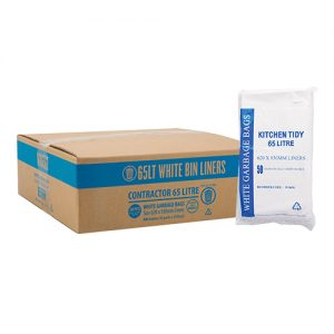 65L Contractor White Bin Liner HDPE