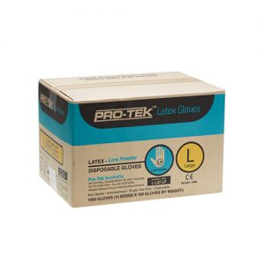 Pro-Tek Latex Gloves Low Powder